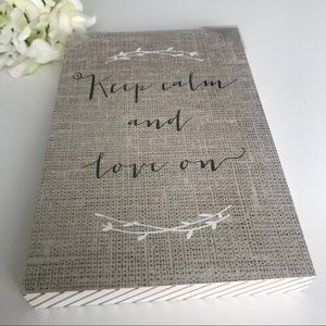 Keep calm and love on decorative picture